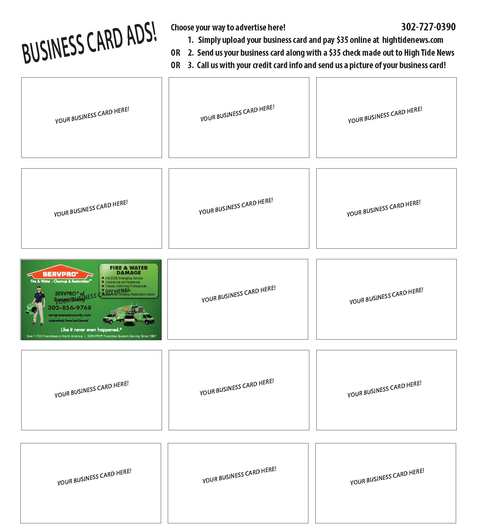 $50 Business Card Ad